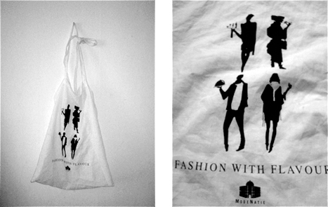 FASHION WITH FLAVOUR Print design bag, for 'Fashion With Flavor', an event orginzed by the 'Ffi' ,  Flanders Fashion Institute', based Antwerp.