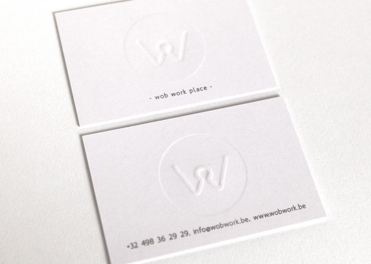 Wob Work Place Identity, print, stamps and wordpress website. _ Workplace WOB is a young design and carpentry business that was founded in 2013 by Tim Vranken. Handcrafted products are forming the center of Wob. Paying importance to quality and unique furnitures. _ Visit: www.wobwork.be