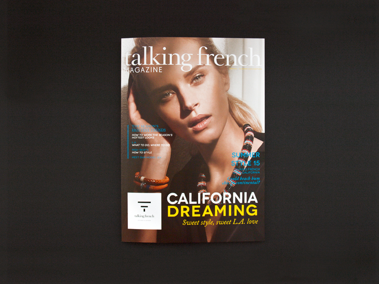 SPRING/SUMMER 2015 CATALOGUE TALKING FRENCH Talking French asked to give this edition a twist between a classic catalog/lookbook and a magazine lay-out. _ Layout and typographic design. Many thanks to Talking French for the pleasant collaboration! _ Visit Talking French: www.talkingfrench.com